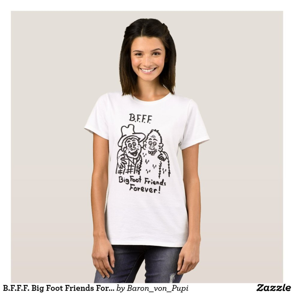 BFF Big Foot Friends Forever T-shirt