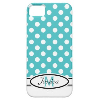 B & W Polka-dot Monogram iPhone 5 Case