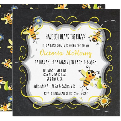 Baby Bee Baby shower Invitations