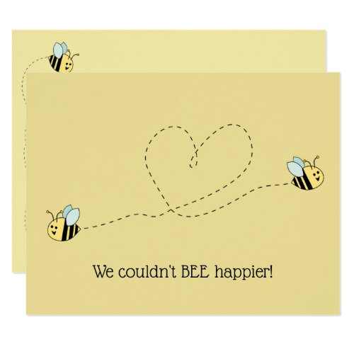 Baby Bee Boy Twins Invitation