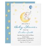 Baby Boy Star Elephant Baby Shower Invitations
