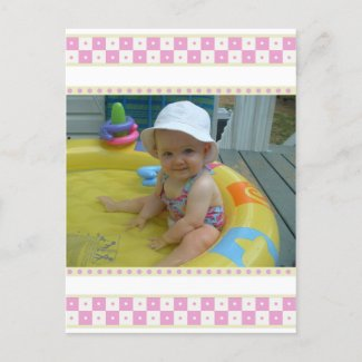 Baby Carriage Thank You Cards postcard