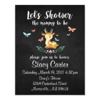 Baby Deer Baby Shower Invitations