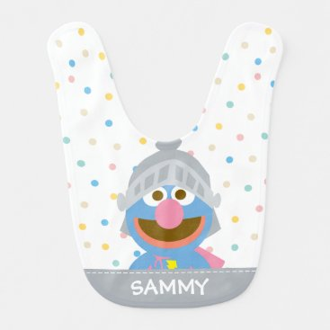 Baby Grover in Armor | Add Your Name Baby Bib