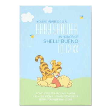 Baby Pooh and Tigger Baby Shower Invitation