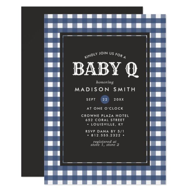 Rustic Country Baby Shower Invitation