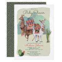Baby Shower Boy | Llamas & Cactus | Invitations