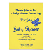 Baby shower butterfly oriented design card
