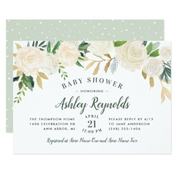 Baby Shower Invitations | Neutral Blooms