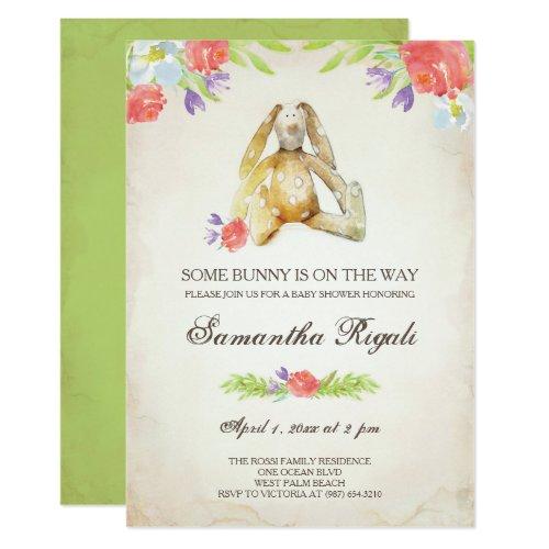 Baby Shower Invite ~ Bunny Invitation