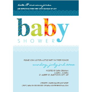Baby Shower Invites Baby Patterned Letters