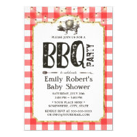 Baby Shower Summer Pig Roast BBQ Party Card