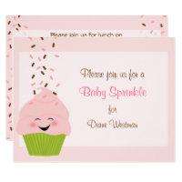 Baby Sprinkle Invitation in Pinks