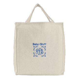 Baby Stuff - Embroidered Bag (Blue)