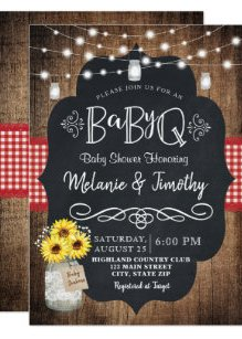 Bbq Shower Invitations Zazzle