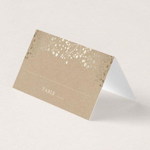 Baby&#39&#x3B;s Breath Gold Wedding Place Card