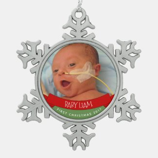 BABY';S FIRST CHRISTMAS ORNAMENT PERSONALIZED