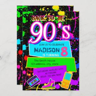 90s invitations zazzle