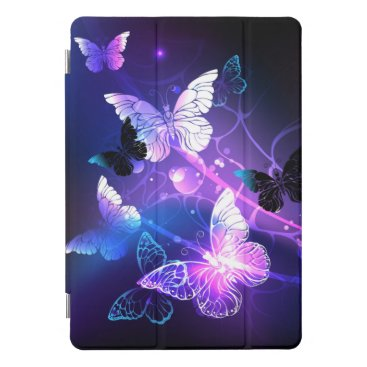 Background with Night Butterflies iPad Pro Cover