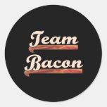 Bacon Team Classic Round Sticker