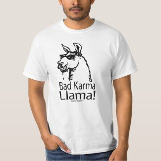 bad_karma_llama_zazzle shirt