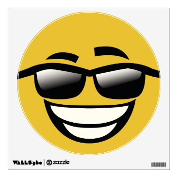 Bad to the Bone cool guy Emoji Wall Decal