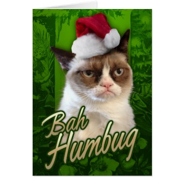 Bah Humbug Grumpy Cat Card