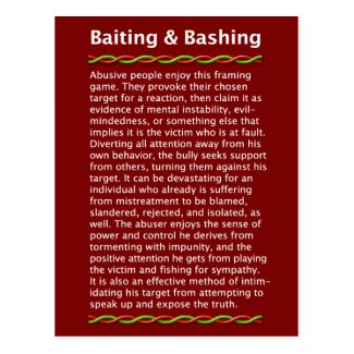 Baiting & Bashing Postcard