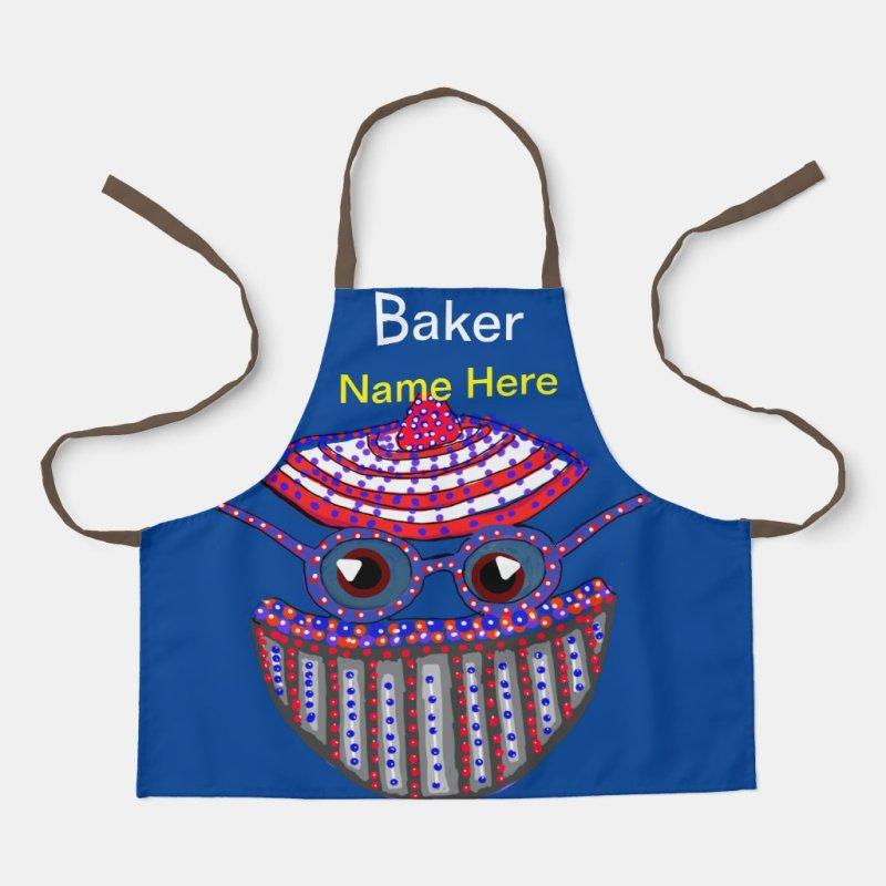 Baker Bob (Name Here) Kids Apron