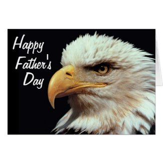 Bald Eagle Photograph Happy Father's Day Card