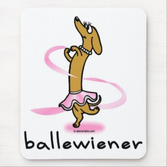 Ballet Wiener Dog Mousepad