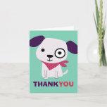 ❤️ Cute Bandana Doggy, Thank You Card
