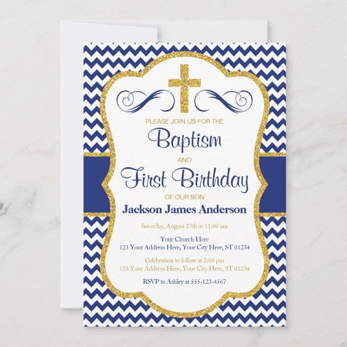 baptism and first birthday invitation for boys zazzle com