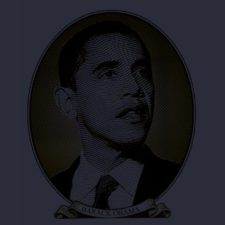 Barack Obama - Portrait of A President Intaglio shirt