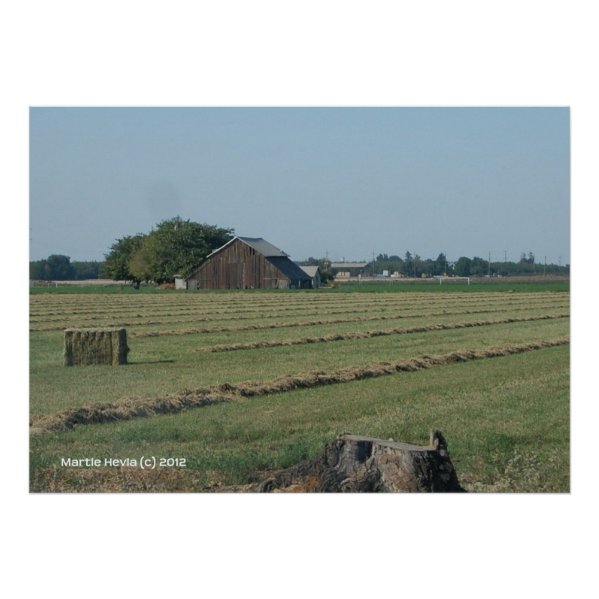Barn and Haystack Poster