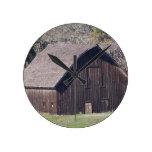Barn Round Clock