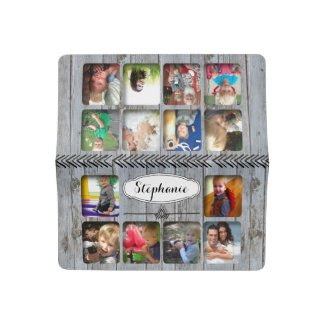 Barn Wood Your Personalized Photo Collage Checkbook Cover