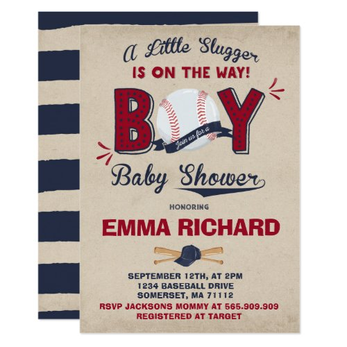 Baseball Baby Shower Invitation Baseball Shower