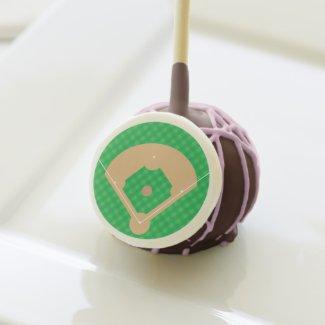 Baseball Diamond Cake Pops