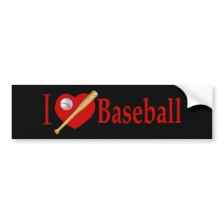 Baseball Sports Lover Gifts bumpersticker
