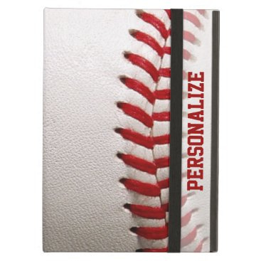 Baseball with Red Stitching and Personalized Name iPad Air Cover