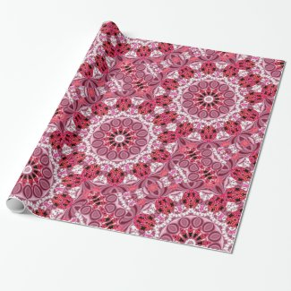 Basket of Jewels, Abstract Ruby Lace Candy Gift Wrap