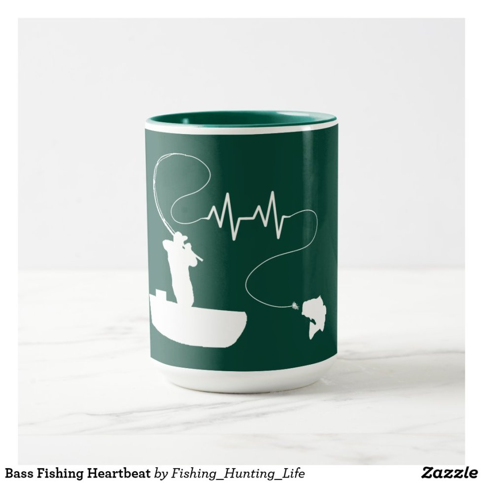 Bass Fishing Heartbeat Mug