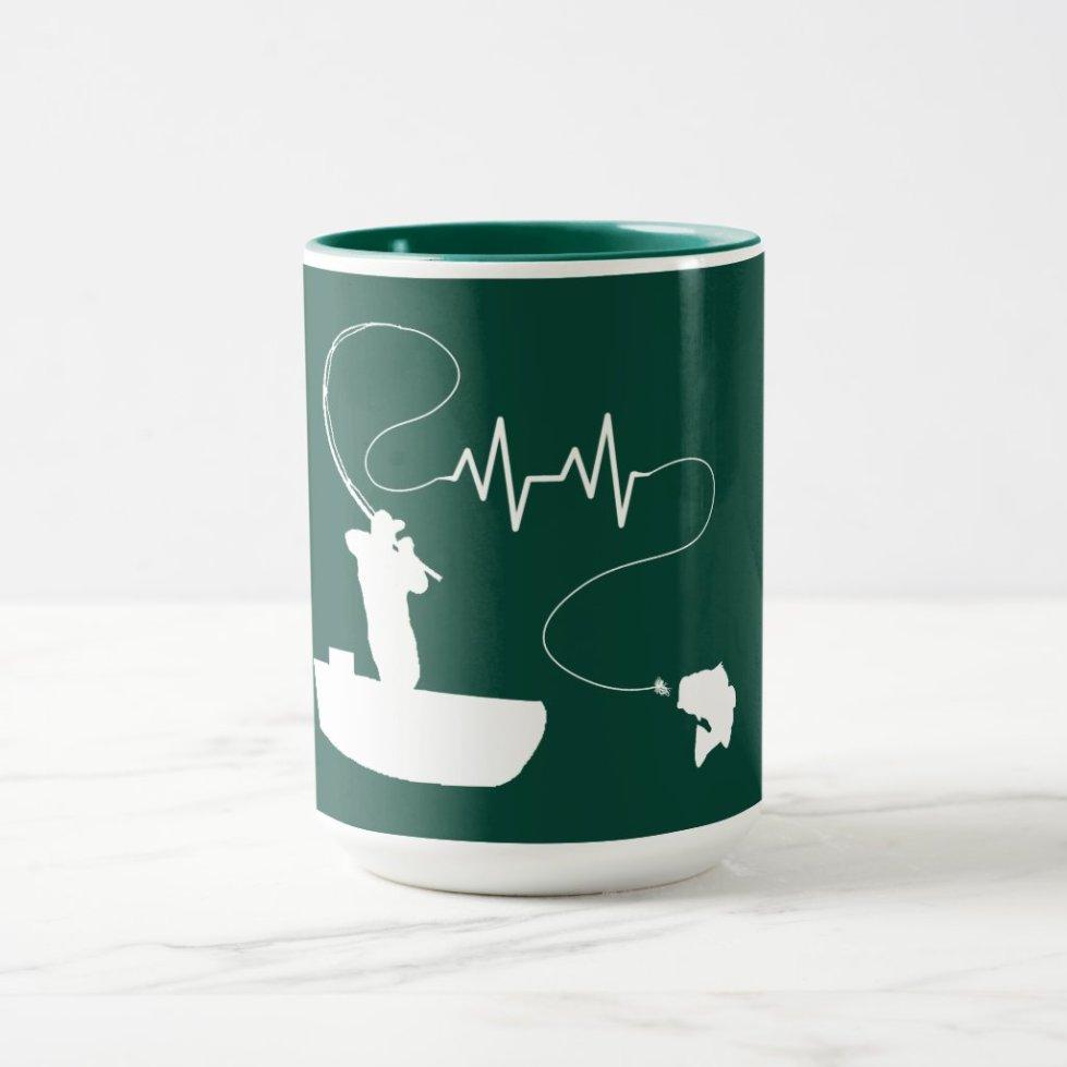 Bass Fishing Heartbeat Mug