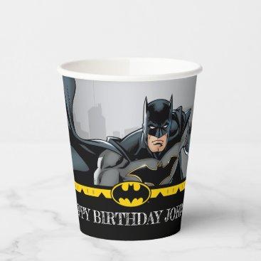Batman | Chalkboard Happy Birthday Paper Cups