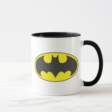 Batman Symbol   Bat Oval Logo Mug