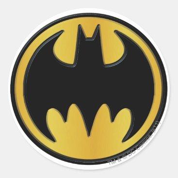 Batman Symbol   Classic Round Logo Classic Round Sticker