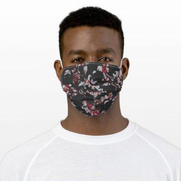 Batman Urban Legends - Bat Text Stamp Pattern Blac Adult Cloth Face Mask