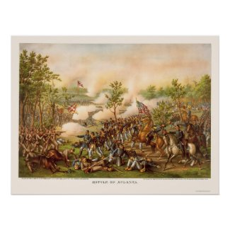 Battle of Atlanta by Kurz and Allison 1864 Poster