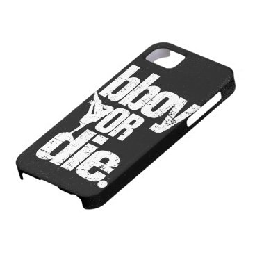 bboy or die  - white distressed iPhone SE/5/5s case